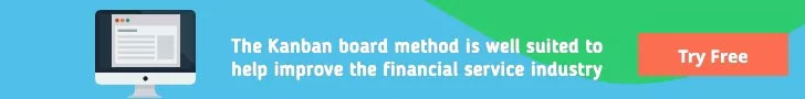Kanban board method for financial services - Try free